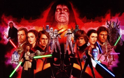 Star Wars wallpaper probably with anime called Wallpaper SW characters