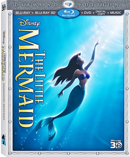 Walt डिज़्नी Blu-Ray Covers - The Little Mermaid: 3D Diamond Edition