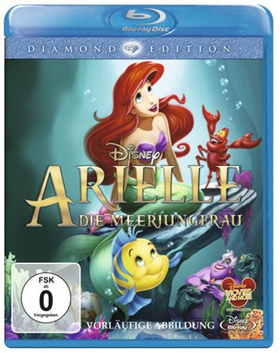 Walt Disney Blu-Ray Covers - The Little Mermaid: Diamond Edition