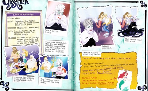 Walt disney Books - disney Villains: The topo, início Secret Files (Ursula)
