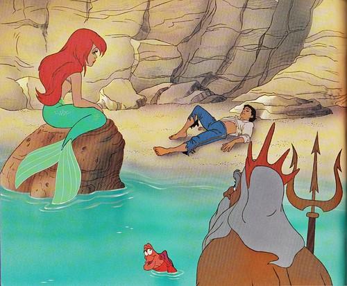 Walt Disney کتابیں - Princess Ariel, Prince Eric, Sebastian & King Triton