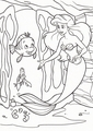 Walt डिज़्नी Coloring Pages - Flounder, Sebastian & Princess Ariel