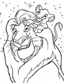 Walt Disney Coloring Pages - Mufasa &amp; Simba - walt-disney-characters photo