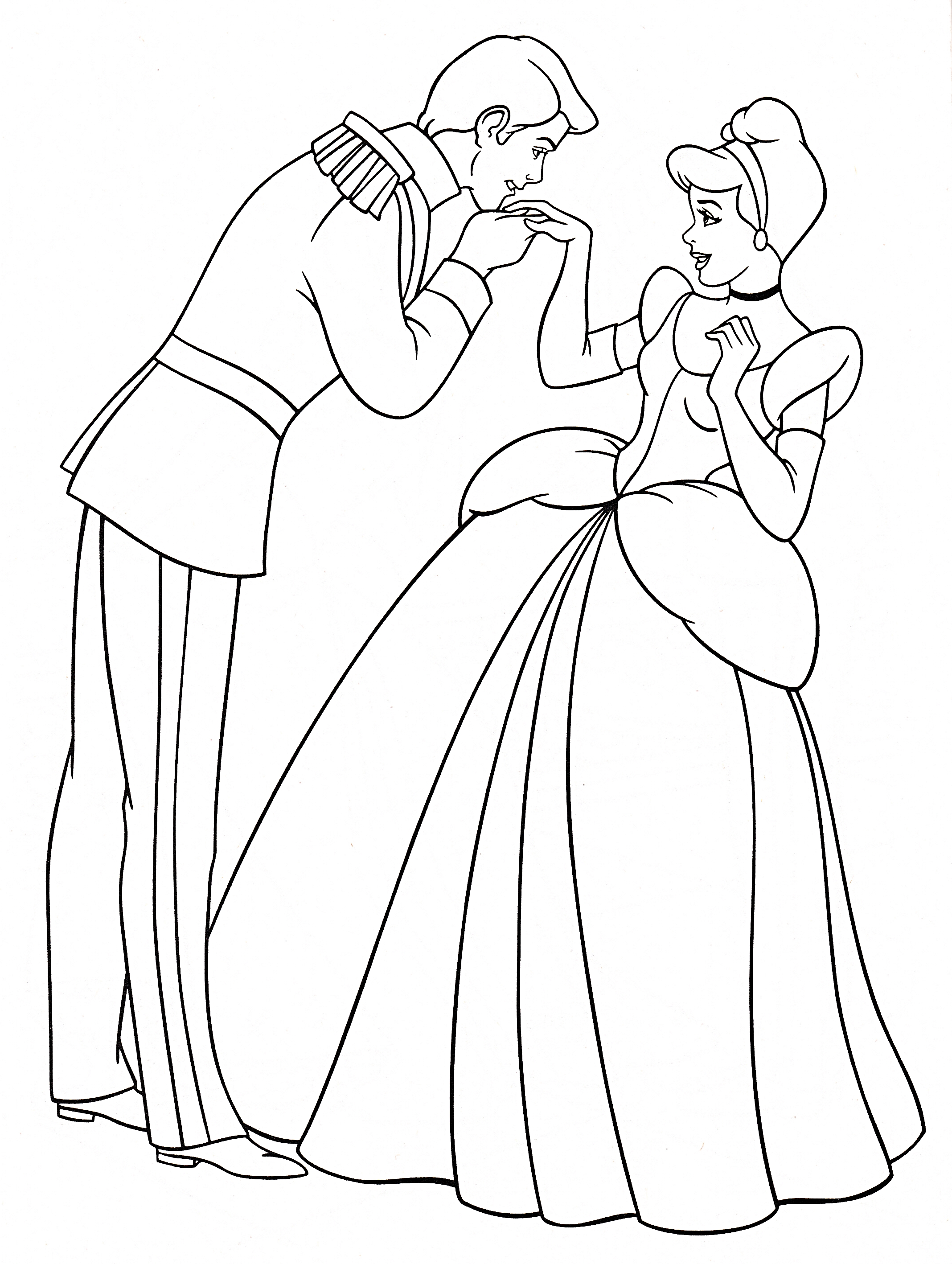 prince and princess coloring pages - photo#29