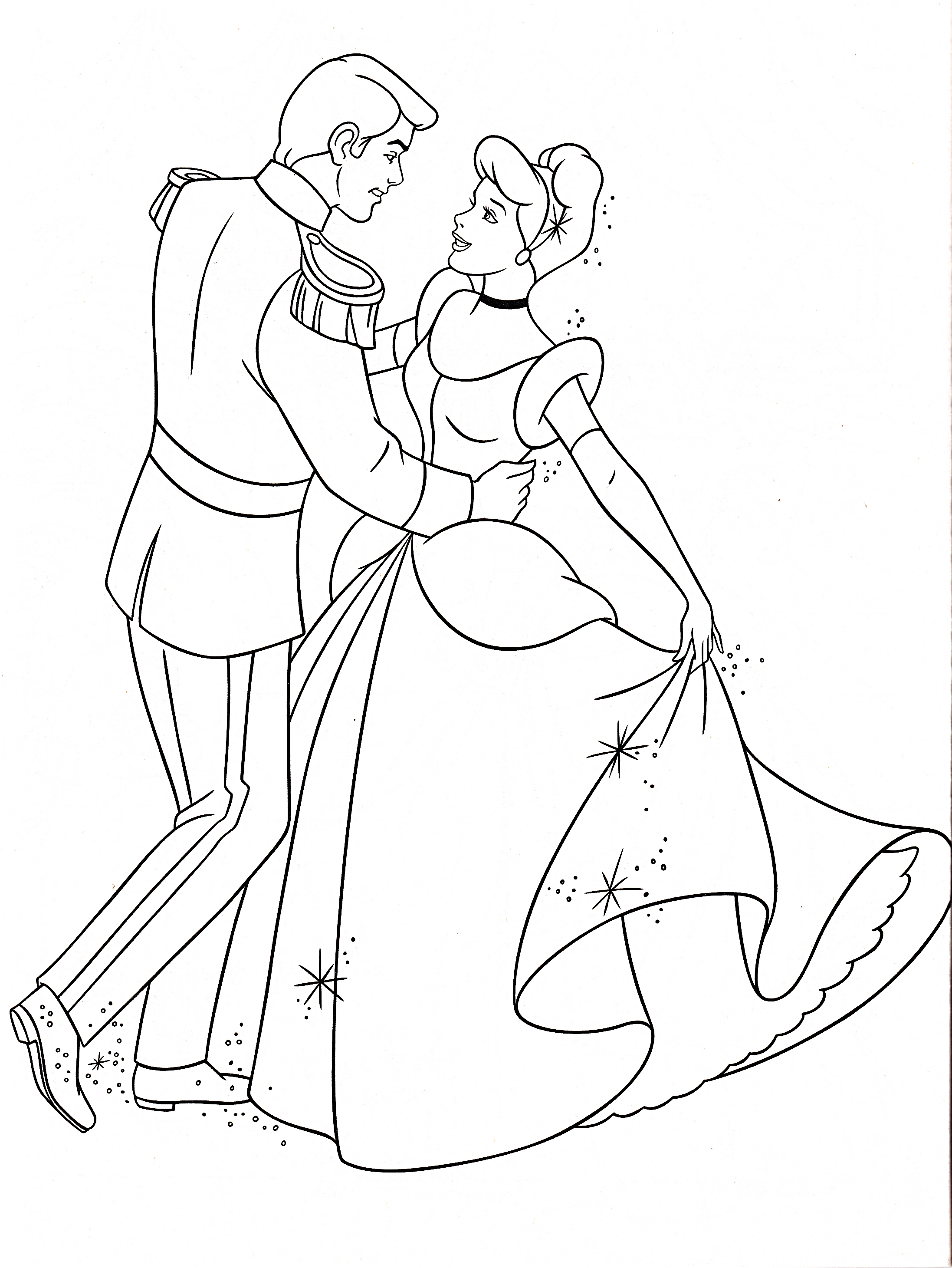 Walt Disney Coloring Pages Prince Charming Princess