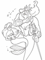 Walt Disney Coloring Pages - Princess Ariel & King Triton