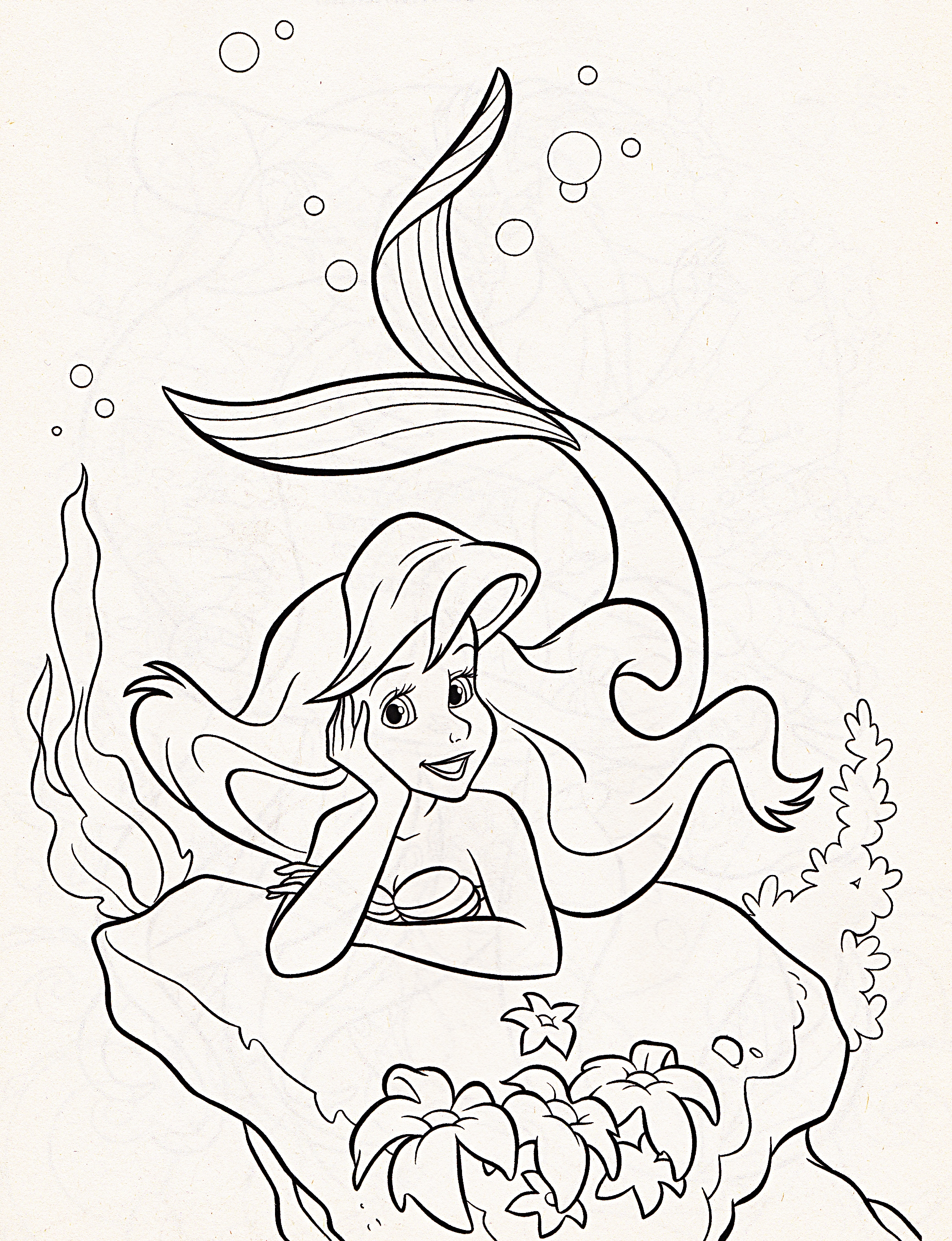 disneys baby ariel coloring pages - photo#31