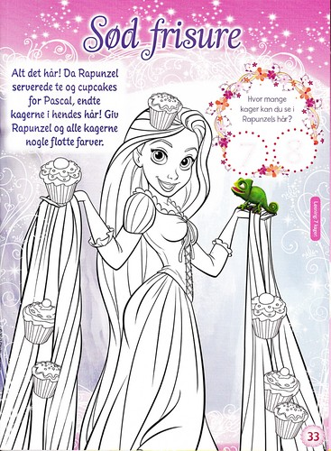 Walt ディズニー Coloring Pages - Princess Rapunzel & Pascal