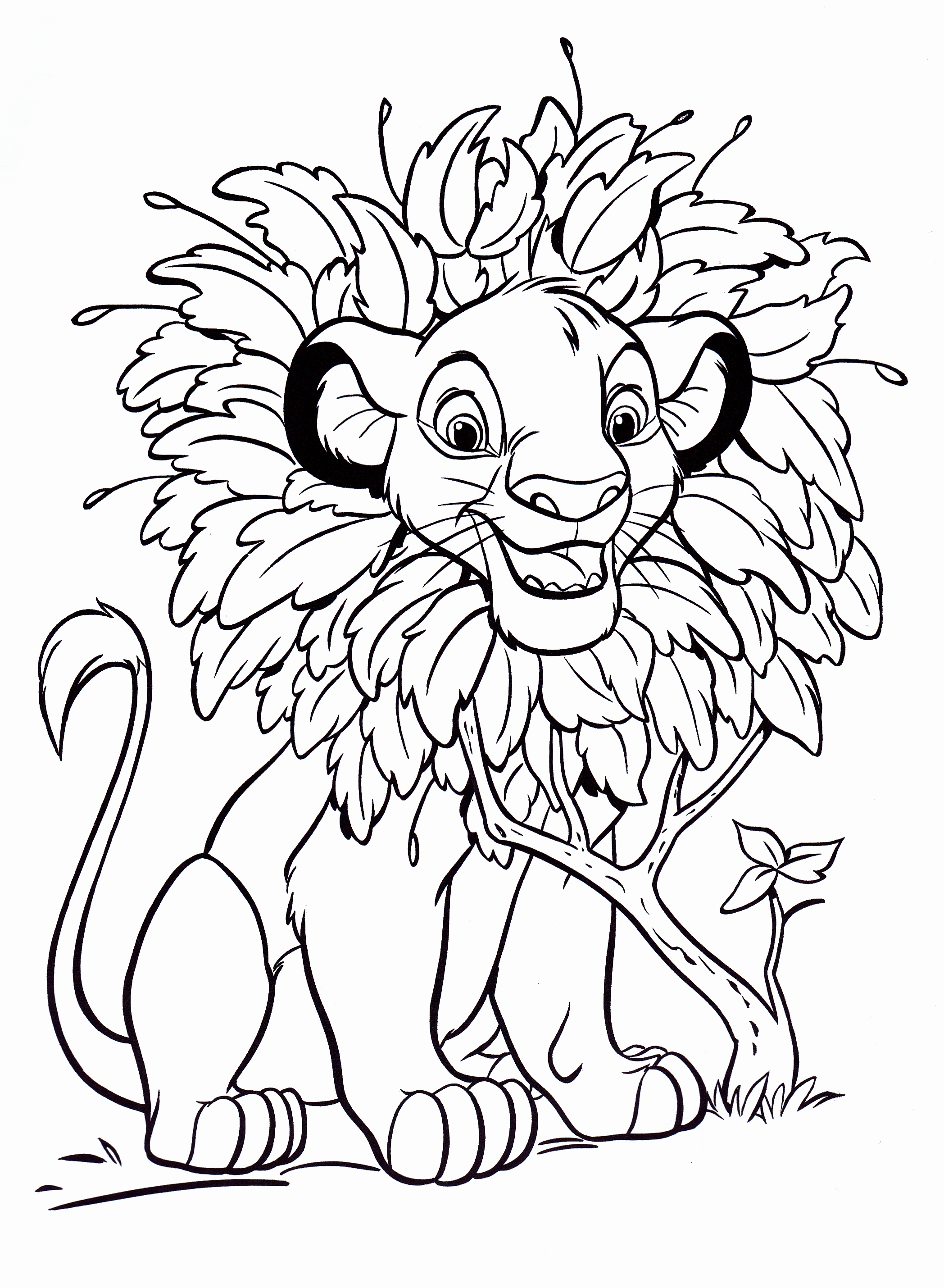 Walt Disney Coloring Pages - Simba - Walt Disney Characters ...
