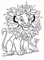 Walt ディズニー Coloring Pages - Simba