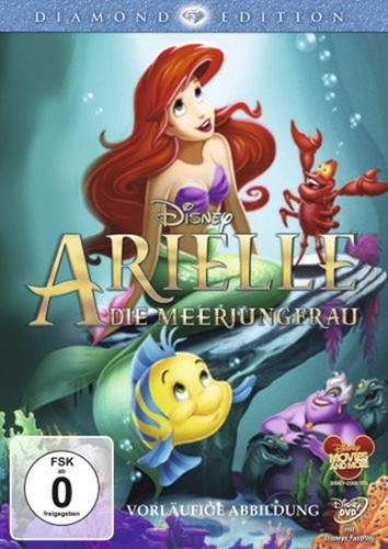 Walt ডিজনি DVD Covers - The Little Mermaid: Diamond Edition