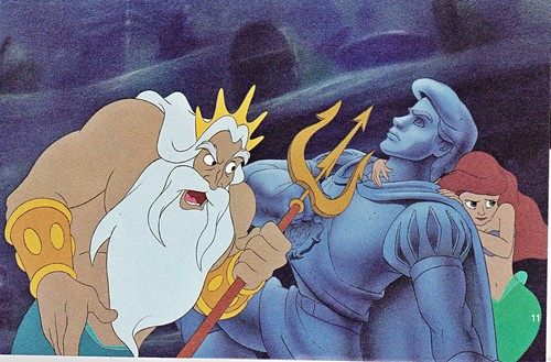 Walt Disney Production Cels - King Triton & Princess Ariel