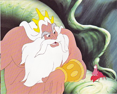 Walt Disney Production Cels - King Triton & Sebastian