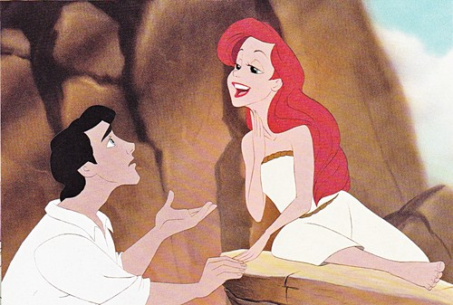 Walt Дисней Production Cels - Prince Eric & Princess Ariel