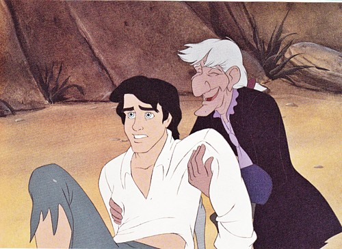 Walt ディズニー Production Cels - Prince Eric & Sir Grimsby