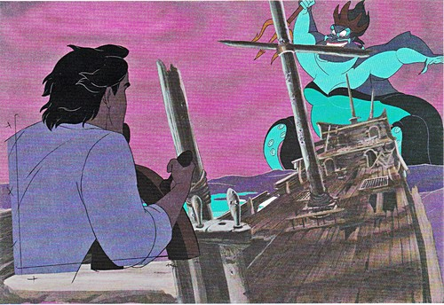 Walt Дисней Production Cels - Prince Eric & Ursula