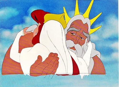 Walt Disney Production Cels - Princess Ariel & King Triton
