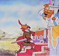 Walt Disney Production Cels - Robin kofia & Prince John