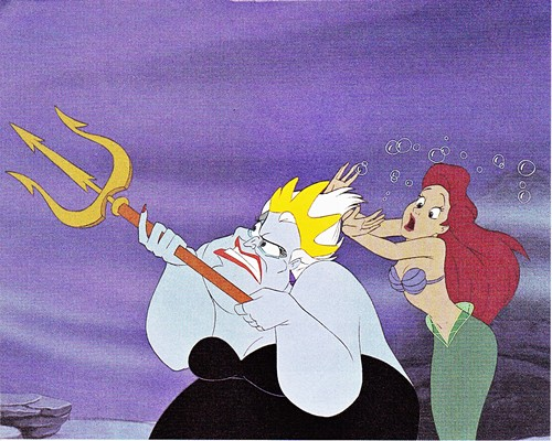 Walt डिज़्नी Production Cels - Ursula & Princess Ariel