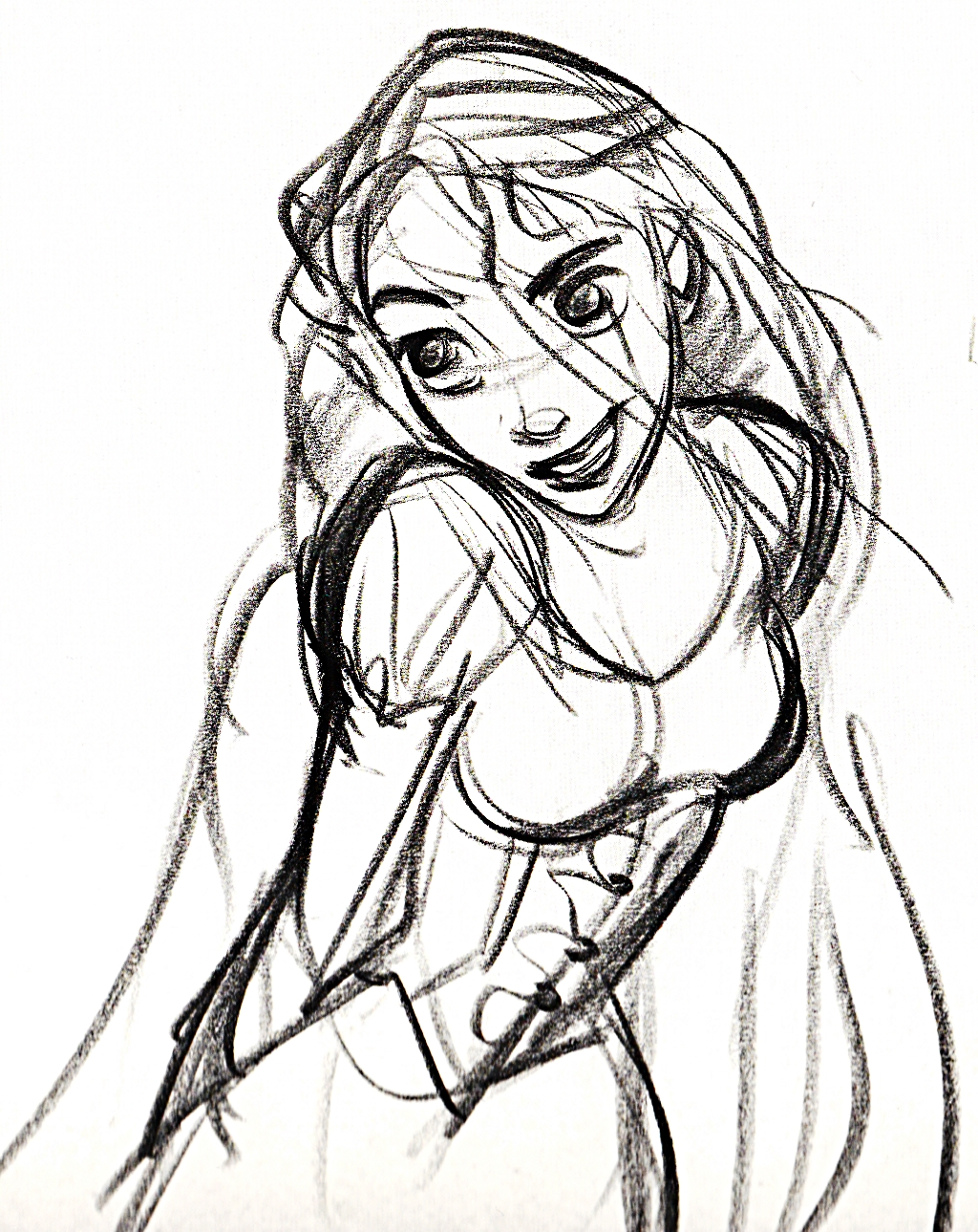 Walt Disney Sketches - Princess Rapunzel - Walt Disney ...