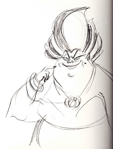 Walt ডিজনি Sketches - Ursula