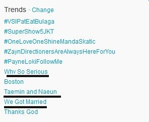 Why So Serious #6 Taemin and Naeun #8 and We Got Married #9 on Twitter World Wide