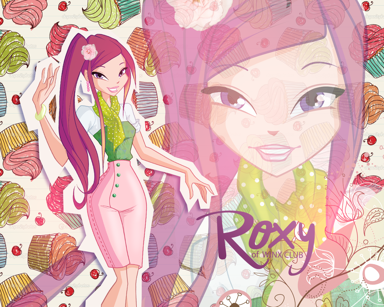 Winx Roxy 5 season wallpaper\Винкс рокси 5 сезон обои