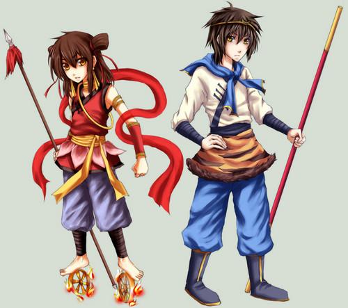 Wu Kong and Nezha