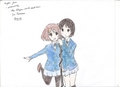 Yui and Mio - k-on fan art