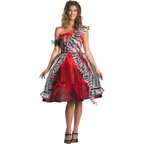 "alice in wonder land red queen ""curtain"" dress"