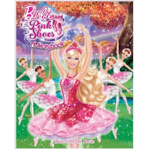 barbie in the berwarna merah muda, merah muda shoes buku