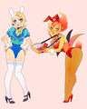 fionna and flame princess