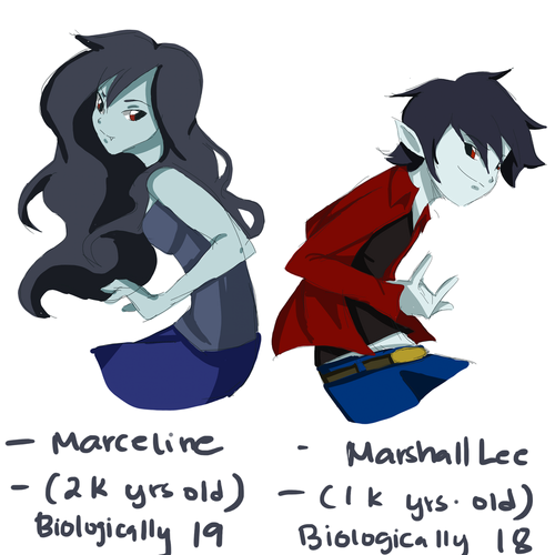 Adventure Time With Finn and Jake wallpaper called marceline and marshall lee