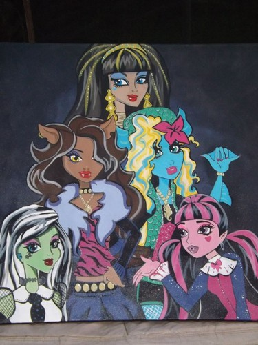 monster high painting by cory nation