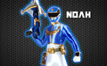 power rangers megaforce blue ranger kertas dinding