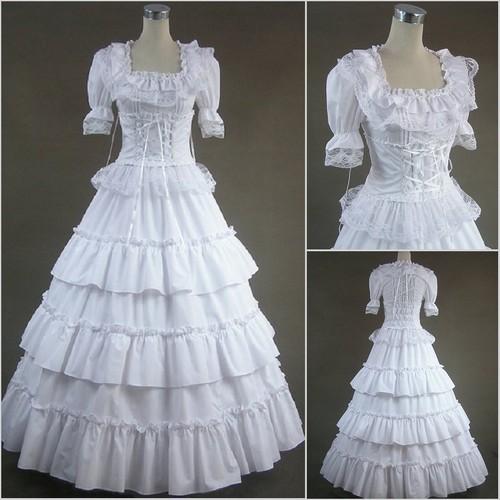 pretty victorian white dress