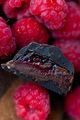 raspberry mocha dark chocolates - chocolate photo