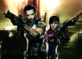 re5 rihanna & hugh jackman - resident-evil fan art