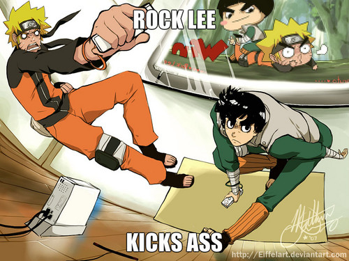 rock lee kicks arsch