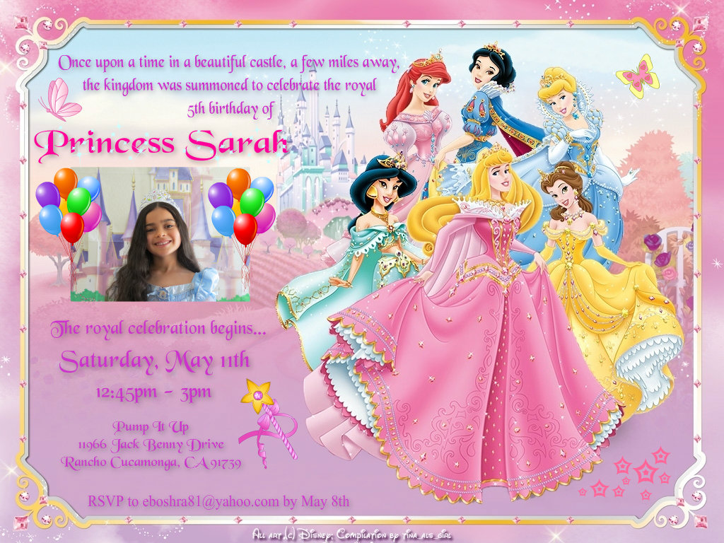 Disney Princess Images Sarah S Invitation Hd Wallpaper And