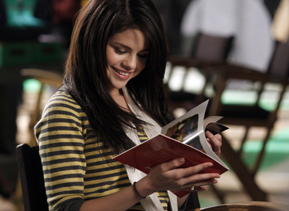selly reading a book