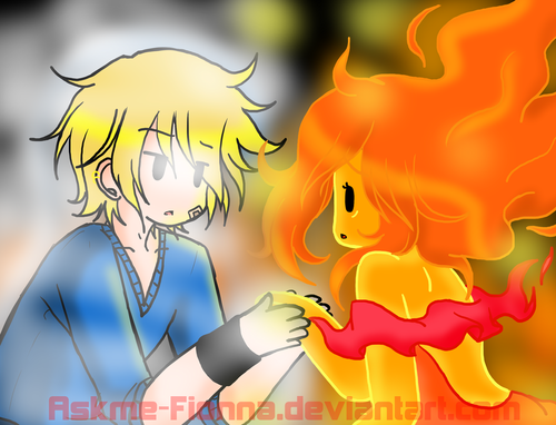 serious finn and fionna flame