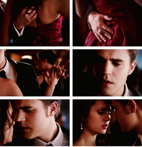 Stefan & Elena Обои possibly with a portrait titled stelena 4x19