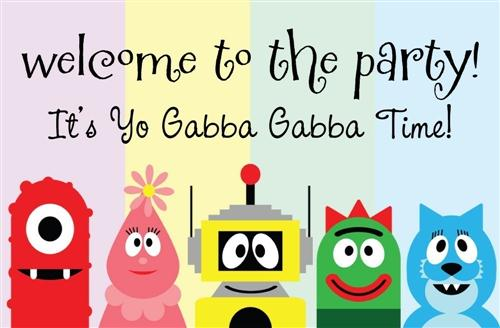 212 best yo gabba gabba printables images on pinterest | yo gabba, Wedding invitations