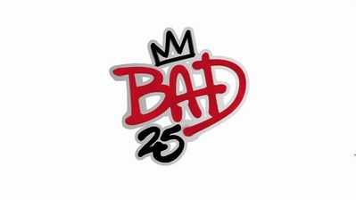 """25th"" Anniversary Edition Of ""BAD"" Logo"