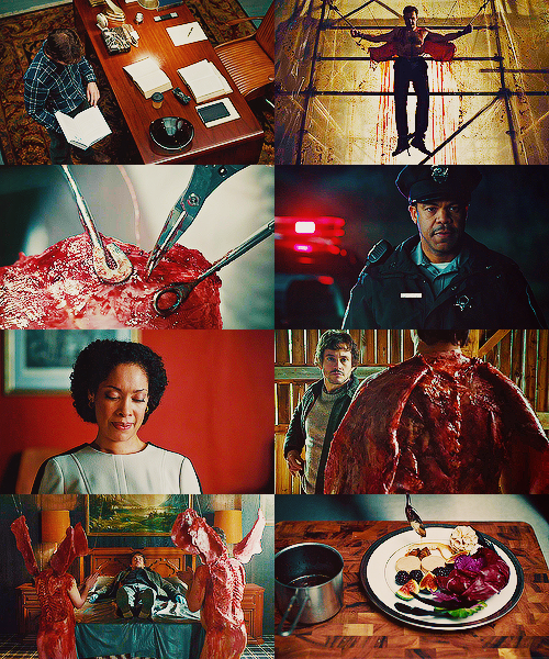 Hannibal tv series { hannibal color meme } coquilles + red