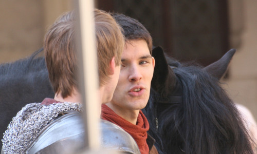 Bradley James wallpaper called 	Merlin - Behind the Scenes