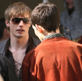 Merlin - Behind the Scenes - bradley-james photo