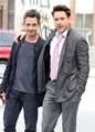 Robert Downey Jr. and a friend step out in New York City - robert-downey-jr photo