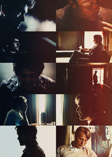Will Graham & Hannibal Lecter - Blue & Red
